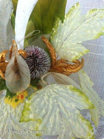 Мастер-класс Флористика Ассамбляж Цветок из плода ириса петушка Материал природный фото 15