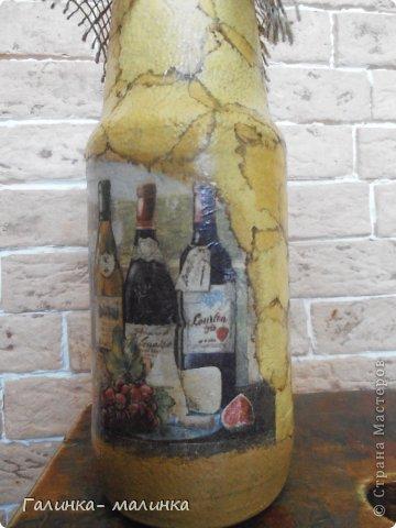Вот я и добралась до бутылок, знакомая попрасила для сотрудницы мини букетик, а я предложила, гранатовый сок( д.р № 60..). Вот что получилось! фото 3