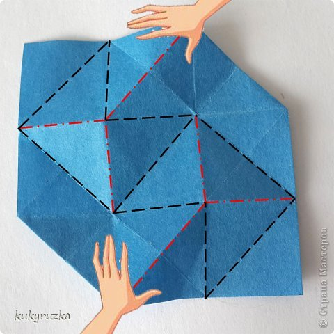 Всем доброго дня!  Разрешите представить кусудаму Clare и МК на нее. Сначала параметры:  Name: Clare Designer: Tatyana Andreychikova Parts: 30 Paper size: 7,5 x 7,5 cm Final height: 13 cm Joint: no glue фото 8