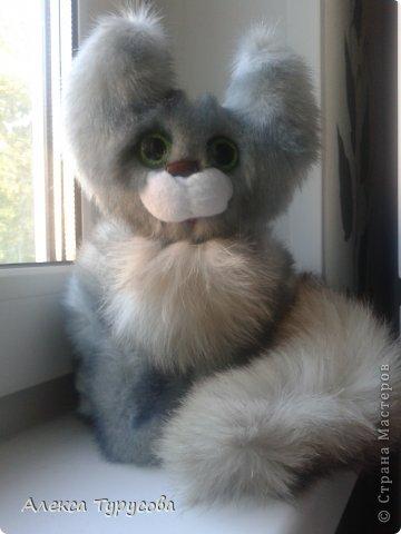 Вот,вдруг вспомнила занятия мягкой игрушкой и решила сшить кошечку.Навеяло её так же творчество Касьянова,необычные цвета,пушистость и большие глаза=) фото 4