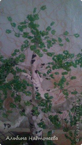 Березка. Первое дерево из бисера фото 2