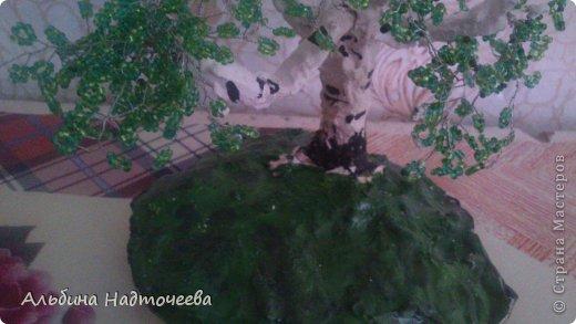 Березка. Первое дерево из бисера фото 4