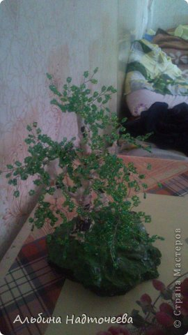 Березка. Первое дерево из бисера фото 3