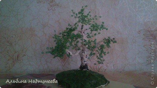 Березка. Первое дерево из бисера фото 1