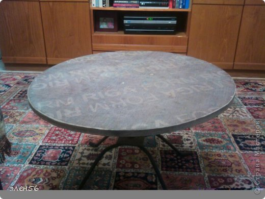 Сразу прошу прощения за нерезкие снимки,но  так уж вышло...Вот такой столик сотворился... фото 6