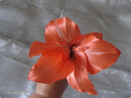 здравствуйте дорогие жители СТРАНЫ МАСТЕРОВ!!!!!!!!!!!!!!  хочу с вами поделиться моими лилиями (я очень люблю этот цветок) .  и сделала три разных - этот с малиновыми прожилками. фото 4