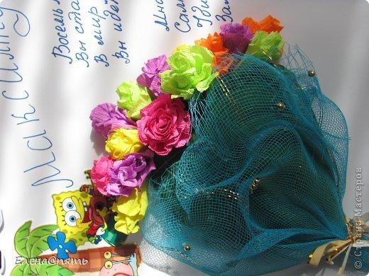 Плакат для моих двойняшек к 8 летию.Мы повесили на школьную доску,а одноклассники писали свои пожелания на листиках и клали их в конвертик.Потом плакат украсил зал,где праздновали День рождение. фото 2