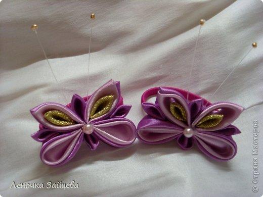 Вот такие заколочки,уже были такие цветы в розовом цвете делала. фото 2