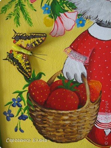 Картины были нарисованы для самой хорошей, любимой девочки, для Настеньки. Очень надеюсь, что они добявят ей хорошего настроения и украсят её комнатку. Размер картин 40см на 50 см. Краски - акриловые.  Зайка девочка. фото 8