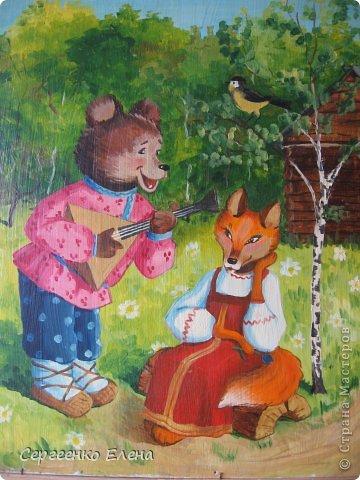 Картины были нарисованы для самой хорошей, любимой девочки, для Настеньки. Очень надеюсь, что они добявят ей хорошего настроения и украсят её комнатку. Размер картин 40см на 50 см. Краски - акриловые.  Зайка девочка. фото 11