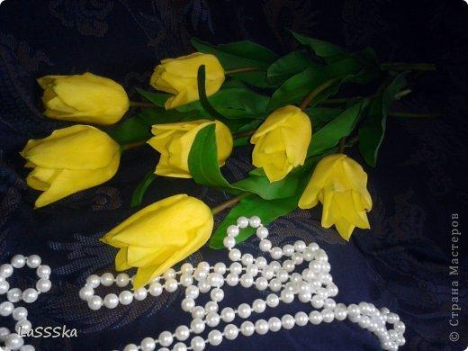 Наконец то закончила букет из семи тюльпанов. Очередной заказ. Надеюсь понравится. фото 3