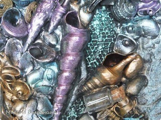 Декор предметов Ассамбляж Две работы терра и ассамбляж Бусинки Краска Крупа Листья Материал природный Ракушки Скорлупа яичная Фанера фото 3