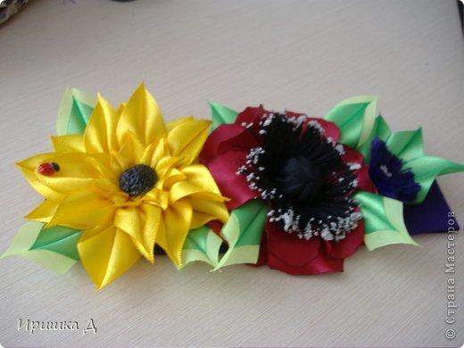 Повязка полевые цветы  фото 2