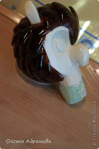 Мастер-класс Поделка изделие Моделирование конструирование МК ФИЛИН из пластиковых бутылок Бутылки пластиковые Материал бросовый Пенопласт Проволока фото 21