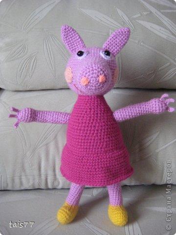 вязание игрушки крючком свинка пеппа схема