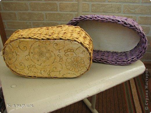 Вот такие замечательные корзинки я сплела для своей мамули и сестрёнки! фото 4