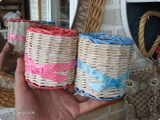 Вот такие замечательные корзинки я сплела для своей мамули и сестрёнки! фото 7