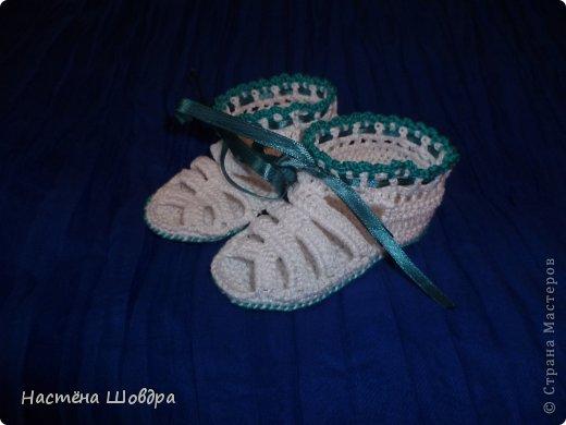 Вязание крючком босоножек для малышей