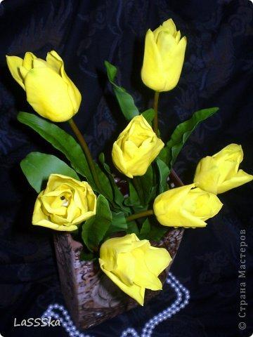 Наконец то закончила букет из семи тюльпанов. Очередной заказ. Надеюсь понравится. фото 2