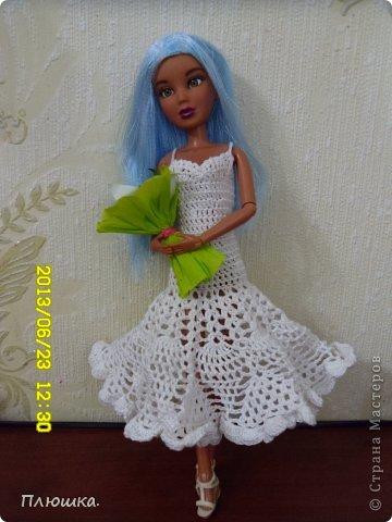 Здравствуйте Страна Мастеров! Хочу показать вам одежду для Леры (так зовут мою куколку).  №1.Купальник! А так же парео, пляжная сумочка и коврик (и если вы заметили, то у неё новый парик!) фото 11