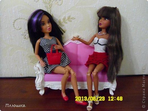 Здравствуйте Страна Мастеров! Хочу показать вам одежду для Леры (так зовут мою куколку).  №1.Купальник! А так же парео, пляжная сумочка и коврик (и если вы заметили, то у неё новый парик!) фото 18