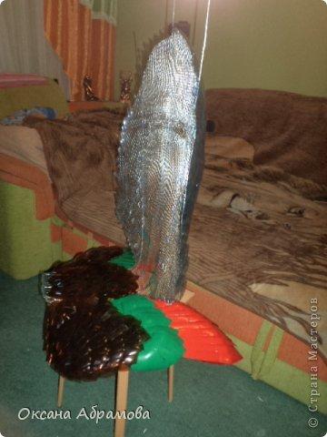 """Мое увлечение изделиями из пластиковых бутылок началось с пальм. Я случайно увидела МК и решила повторить. Вот так выглядит мой """"Пальмовый рай"""". фото 7"""