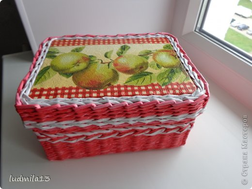Добрый вечер, Страна! Вот решила выставить то, что накопилось за последнее время. коробочка с яблочками фото 1