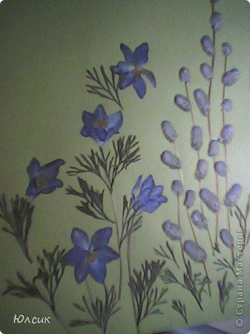 """Флористическая картина """"Весна"""". Сон-трава и котики."""