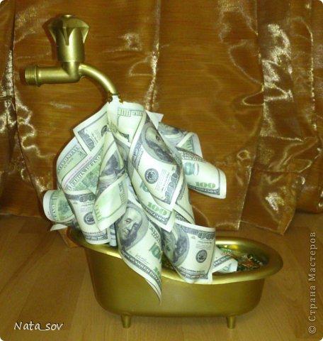 Вот такой денежный кран подарила куму на День Рождения. Так как у него ипотека, такой краник в самый раз =) фото 1