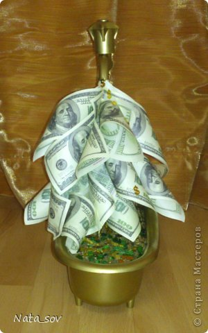 Вот такой денежный кран подарила куму на День Рождения. Так как у него ипотека, такой краник в самый раз =) фото 2
