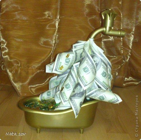 Вот такой денежный кран подарила куму на День Рождения. Так как у него ипотека, такой краник в самый раз =) фото 3