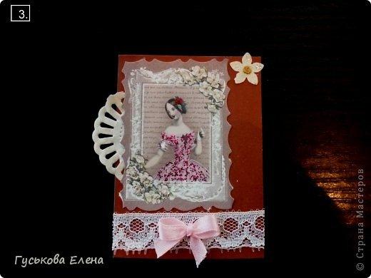 Серия создана с использованием:распечатка дам...кружева(кстати подарочные)....ленточки (подарочные)....научилась завязывать бантики на вилке!!!!!....салфетки немного тонированные.....дырокольные цветы,серединка у них-глиттер....бумажные кружева(подарочки).Сначала выбирают кредиторы!!!!!!!!!!!!!!!!!!! фото 4