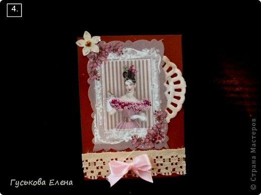 Серия создана с использованием:распечатка дам...кружева(кстати подарочные)....ленточки (подарочные)....научилась завязывать бантики на вилке!!!!!....салфетки немного тонированные.....дырокольные цветы,серединка у них-глиттер....бумажные кружева(подарочки).Сначала выбирают кредиторы!!!!!!!!!!!!!!!!!!! фото 5
