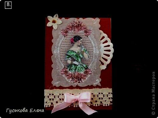 Серия создана с использованием:распечатка дам...кружева(кстати подарочные)....ленточки (подарочные)....научилась завязывать бантики на вилке!!!!!....салфетки немного тонированные.....дырокольные цветы,серединка у них-глиттер....бумажные кружева(подарочки).Сначала выбирают кредиторы!!!!!!!!!!!!!!!!!!! фото 9