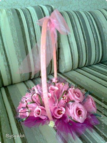розовая корзиночка фото 3