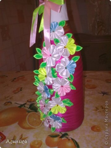 Вот такую бутылочку сделала в подарок сестре мужа фото 2
