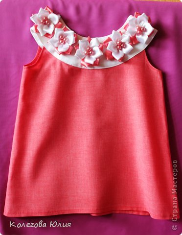Второе платьице и первая шляпка!! Только что из печки))))))) фото 2