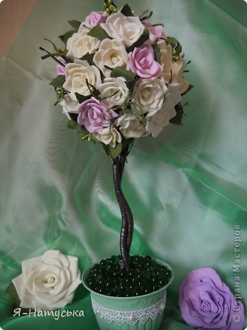 Дерево из розочек в подарок сотруднице на юбилей. Надеюсь понравится. фото 3