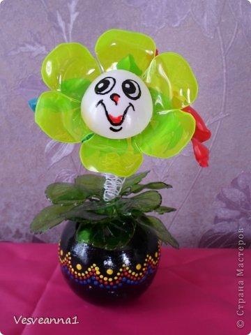 Мастер-класс Вырезание Веселые цветочки  для сына и для дочки Бутылки пластиковые фото 18