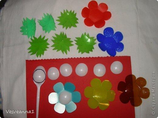 Мастер-класс Вырезание Веселые цветочки  для сына и для дочки Бутылки пластиковые фото 3