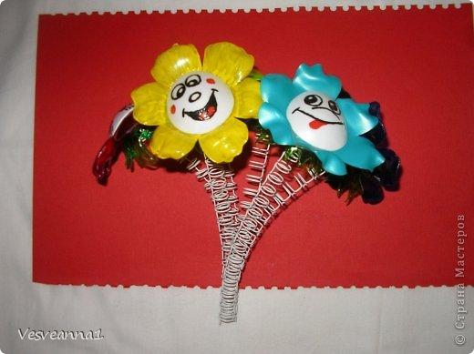 Мастер-класс Вырезание Веселые цветочки  для сына и для дочки Бутылки пластиковые фото 9