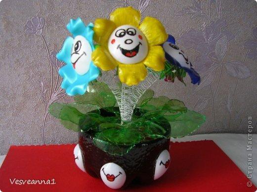 Мастер-класс Вырезание Веселые цветочки  для сына и для дочки Бутылки пластиковые фото 14