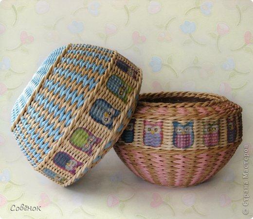 Мастер-класс Поделка изделие Плетение Разноцветные совята Бумага газетная Трубочки бумажные фото 2