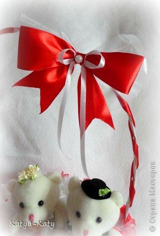 Корзина,подарок на свадьбу, жених с невестой были в восторге!!! Мне было очень приятно что им понравился подарочек. фото 3