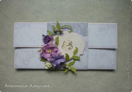 Похожий конвертик уже делала, только без цветочков. фото 1