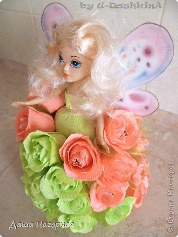 """Ну вот и """"родилась"""" моя первая свит-кукла) Заказчица очень просила фею ... пришлось своять ей капроновые крылышки (они съемные) фото 6"""