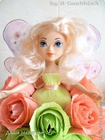 """Ну вот и """"родилась"""" моя первая свит-кукла) Заказчица очень просила фею ... пришлось своять ей капроновые крылышки (они съемные) фото 7"""