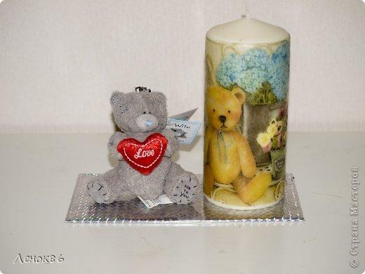 Девочки, здравствуйте. Хочу показать Вам некоторые свои работы по декорированию свечей. К сожалению нет общей фотографии, поэтому загрузила много. Наборчики свечей. Украшены ароматным саше. фото 4