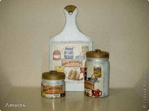 Вот такие наборчики для кухни. Доски декоративные, а банки для сыпучих продуктов можно использовать. фото 5