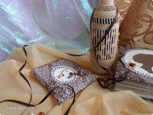 дизайнерское оформление фотоальбома и подушка для колец фото 5